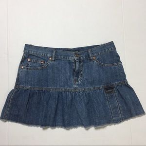 DKNY Jean Skirt Size 7 Denim Flair Denim Blue.